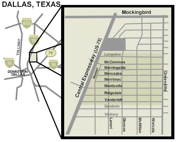 Dallas M Streets Map