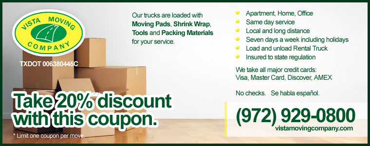 Dallas Apartment Discount Move Coupon